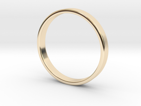 Simple Band Ring Size 6US/16.5mm EU in 14k Gold Plated