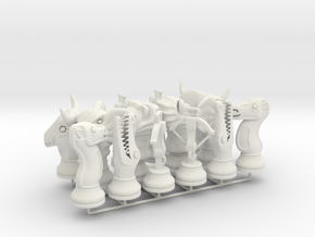 Set Chess - Timur and Tamerlane Pieces in White Strong & Flexible