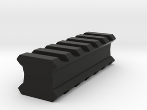 Back-to-Back 6-Slots Picatinny Rails Adapter in Black Strong & Flexible