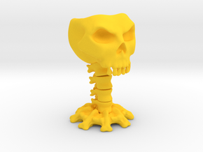 Decorative skull for holding items in Yellow Strong & Flexible Polished