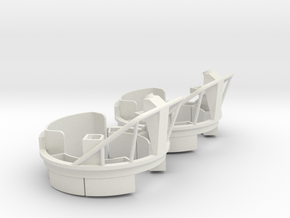 1:16 scale Mk17 Carriage (pair) in White Strong & Flexible