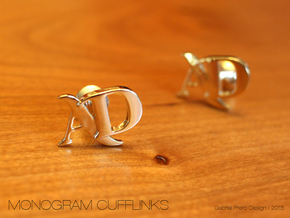 Monogram Cufflinks AD in 18k Gold Plated