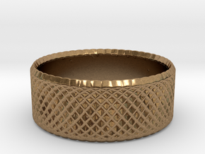 0194 Lissajous Figure Ring (Size0, 11.6mm) #005 in Raw Brass