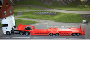 000020 HO 1:87 Tieflader Trailer in White Strong & Flexible