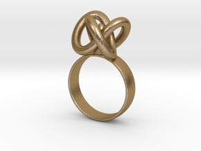 Infinity ring in Polished Gold Steel