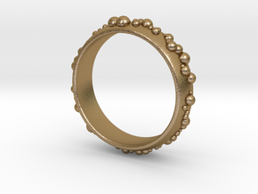 thousand fields Ring in Polished Gold Steel