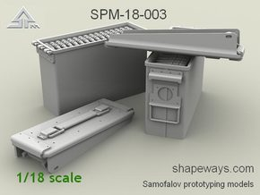 1/18 SPM-18-003 .30cal (7,62mm) ammobox opened in Frosted Extreme Detail