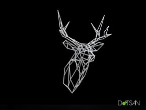 Large Stag 300mm High Facing Forward in White Strong & Flexible