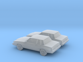 1/160 2X 1983 Dodge Aries SR in Frosted Ultra Detail