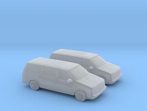 1/160 2X 1987-90 Dodge Grand Caravan in Frosted Ultra Detail