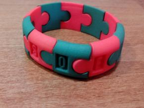 Puzzlebracelet in Orange Strong & Flexible Polished
