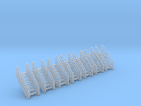 N Scale Stairs 7 (7 pc) in Frosted Ultra Detail