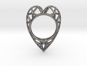 The  Heart ring size 7 1/2 US (17.75 mm) in Polished Nickel Steel