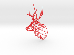 Wired Life Stag,150mm Facing Right  in Red Strong & Flexible Polished