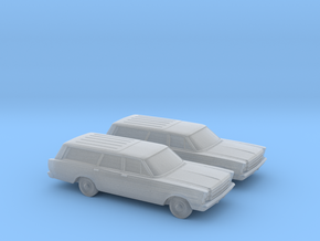 1/160 2X 1966 Ford Country Squire in Frosted Ultra Detail