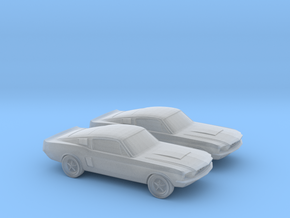1/160 2X 1966 Ford Mustang in Frosted Ultra Detail