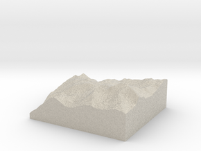 Model of Eagle Pass Mountain in Sandstone
