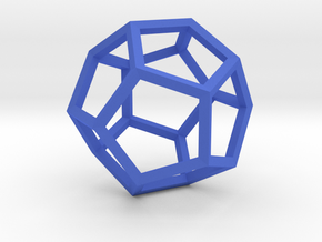 Dodecahedron(Leonardo-style model) in Blue Strong & Flexible Polished