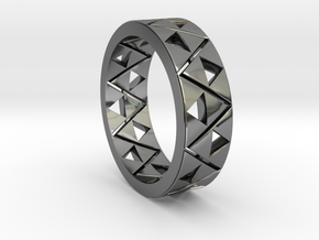 Triforce Ring Size 11 in Premium Silver
