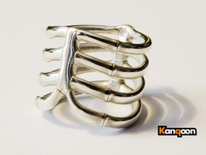 Thorsten 4 Rib - Ring - US 9 - 19 mm inside in Polished Silver