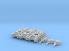 1/220 scale BT-7 tank in Frosted Ultra Detail