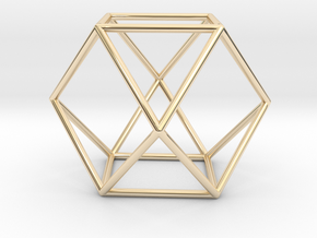 Vector Equilibrium - Cuboctahedron 40mm Sacred Geo in 14k Gold Plated