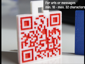 QR-Code tag (18-32 chars) in Full Color Sandstone