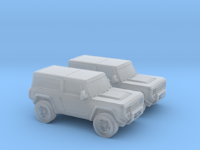 1/160 2X 2004 Ford Bronco Concept in Frosted Ultra Detail