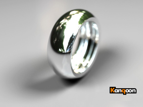 Ralph Hollow - Ring - US 9 - 19 mm inside diameter in Polished Silver