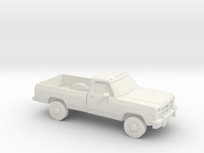 1/64 1991-93 Dodge Ram Single Cab in White Strong & Flexible