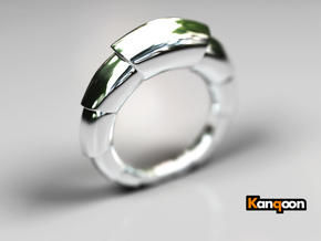 Mats - Ring - US 9 - 19 mm inside diameter in Polished Silver