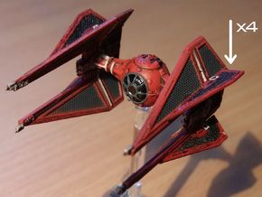 4 Royal TIE Interceptor Wings in Frosted Ultra Detail
