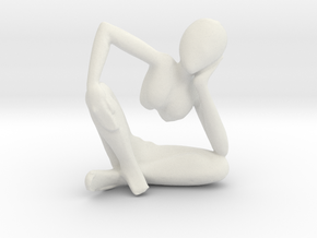 African Sculpture in White Strong & Flexible