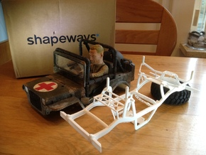 Wild Willy chassis for losi mrc/Vatera slick rock in White Strong & Flexible
