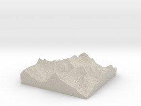 Model of Agassiz Glacier in Sandstone