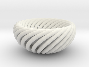 Torus bowl in White Strong & Flexible