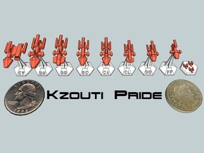 MicroFleet Kzouti Sampler (9 Pcs) in White Strong & Flexible