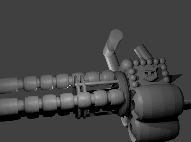 """Wrecker's"" Heavy Artillery Minigun - small 3d printed"