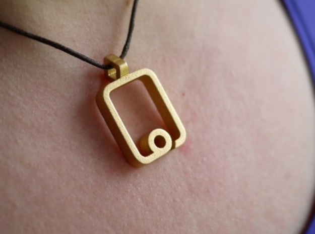 iPad Pendant 3d printed Gold Plated Matte