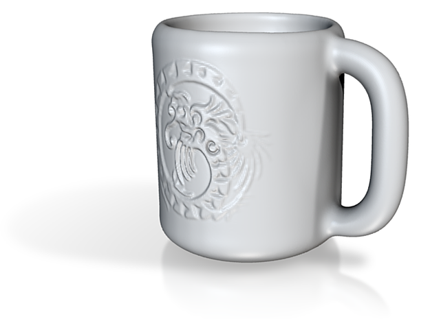 Dragon Mug 3d printed