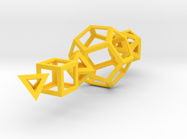 Platonic solids 3d printed