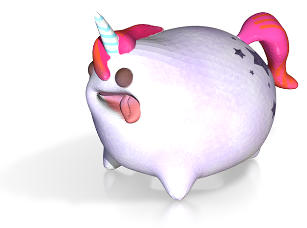 Percy the pudgy unicorn 3d printed