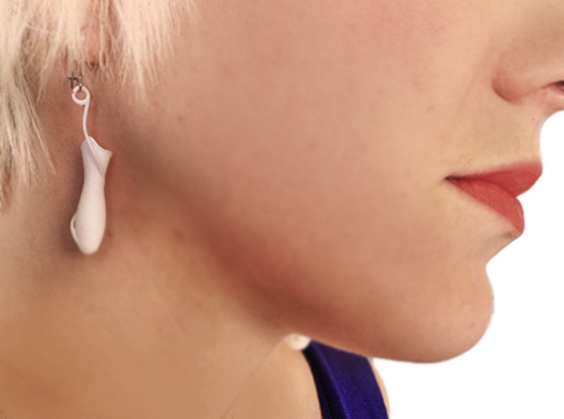 Nepenthese Fusca Earrings 3d printed