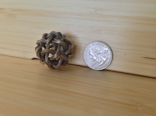 Twisted Single Stranded Globe Knot 3d printed