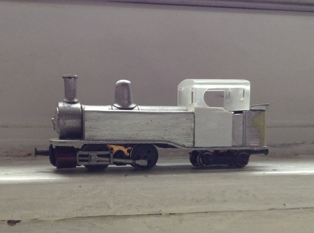 Single Fairlie cab conversion for Taliesin 009 3d printed Modified Five59 Snowdon ranger kit on a handbuilt chassis, sporting the 3d cab