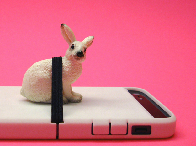 "Cariband case for iPhone 5/5s, ""holds stuff"" 3d printed Not a spray, but holds hare in place."