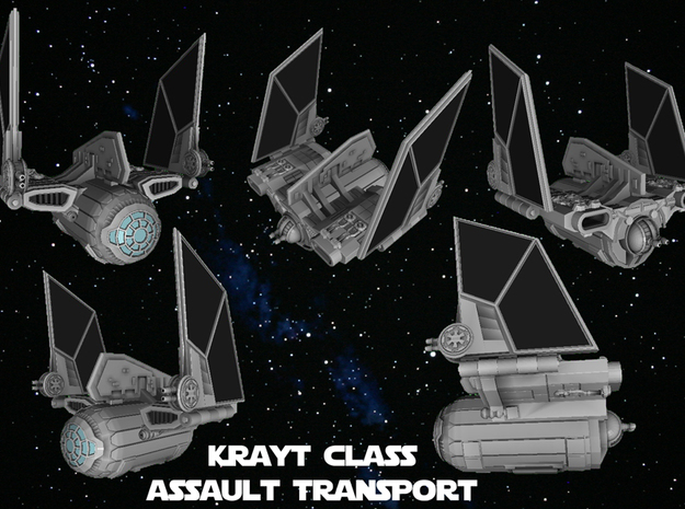 Krayt Class Assault Transport 1/270 3d printed