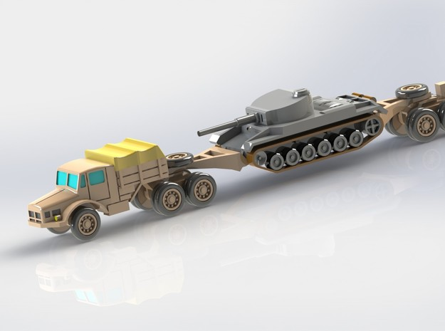 Hvy. Tank-Transporter Porsche Type 142 1/285 6mm 3d printed