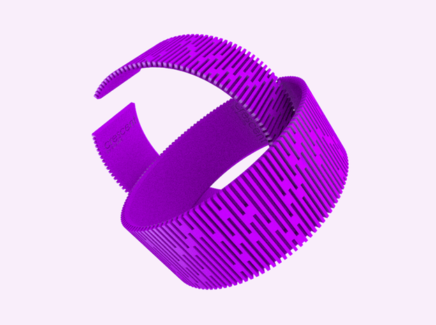 Crescent Bracelet (S) 3d printed Cheerful taste with Violet Purple