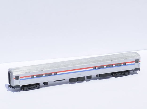 Amtrak Horizon Cafe V1 Doors 3d printed Painted in Phase 3 livery